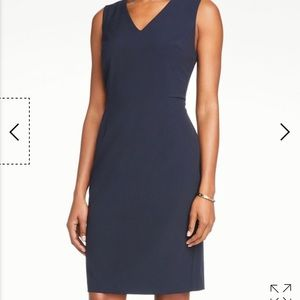 LIKE NEW- Ann Taylor True Navy V-Neck Sheath Dress